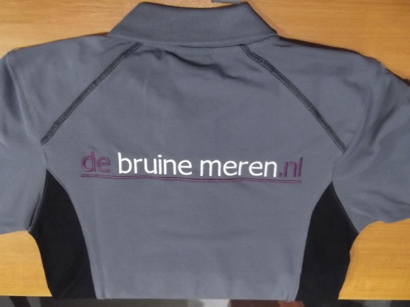Bedrijfskleding jas met bedrukt naam en website